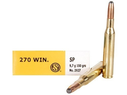 Sellier & Bellot Ammunition 270 Winchester 150 Grain Soft Point Box of 20