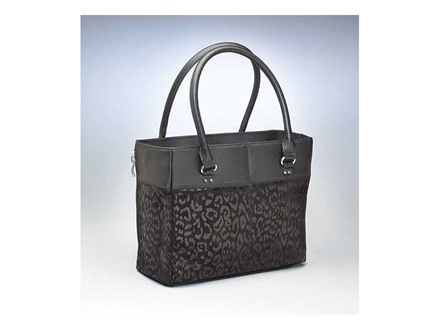 Gun Tote'n Mamas Traditional Open Top Tote Debossed Sueded Leather
