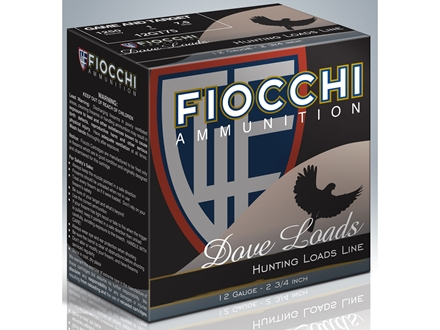 "Fiocchi Dove & Target Ammunition 12 Gauge 2-3/4"" 1 oz #7-1/2 Shot"