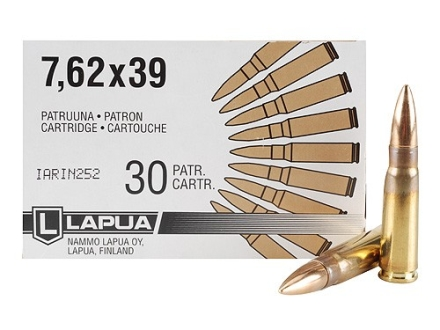 Lapua Ammunition 7.62x39mm 123 Grain Full Metal Jacket Box of 30