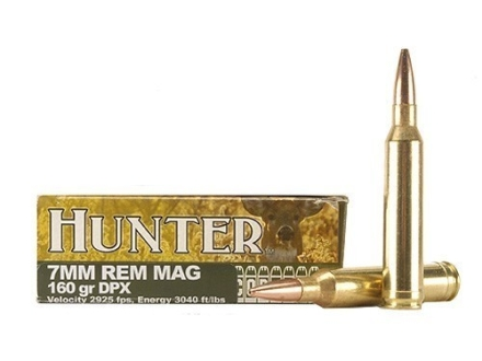 Cor-Bon DPX Hunter Ammunition 7mm Remington Magnum 160 Grain DPX Hollow Point Lead-Free Box of 20