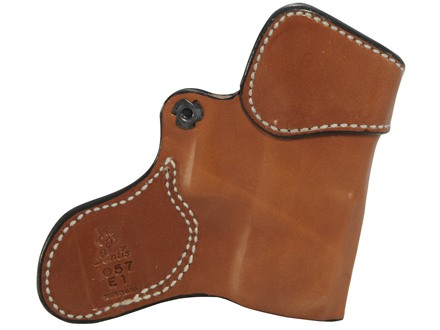 DeSantis Inner Piece Inside the Waistband Holster Left Hand Glock 26, 27, 33 Leather Tan