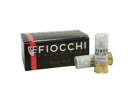 "Fiocchi Low Recoil Ammunition 12 Gauge 2-3/4"" 00 Buckshot 9 Nickel Plated Pellets"