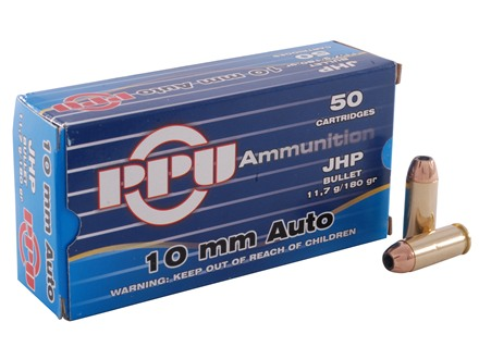 Prvi Partizan Ammunition 10mm Auto 180 Grain Jacketed Hollow Point Box of 50