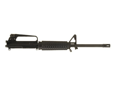 "Olympic Arms Partner AR-15 A2 Upper Receiver Assembly 22 Long Rifle 1 in 16"" Twist 16"" Barrel Chrome Moly Matte with M4 Handguard, Flash Hider, 25-Round Magazine"