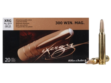 Sellier & Bellot Ammunition 300 Winchester Magnum 180 Grain eXergy Lead Free Box of 20