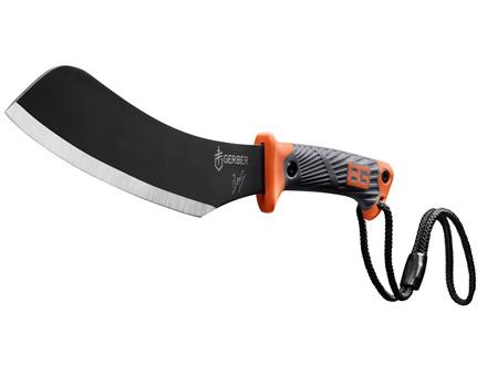 "Gerber Bear Grylls Compact Parang Machete 9.34"" 1055 Carbon Steel Blade Rubber Handle Black and Orange"