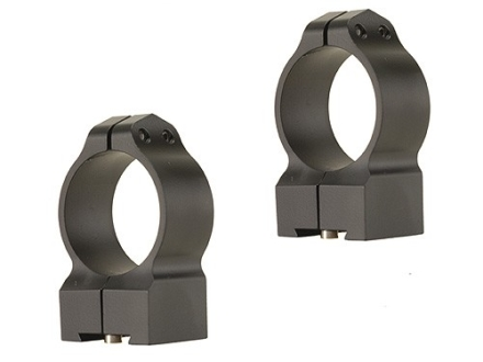 Warne 30mm Permanent-Attachable Ring Mounts Tikka Matte High