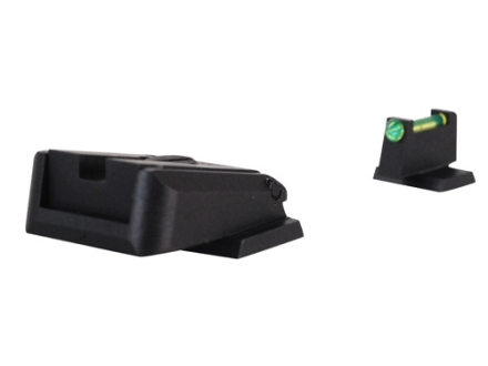 Novak Competition Sight Set S&W M&P Adjustable Black Rear with Green Fiber Optic Front