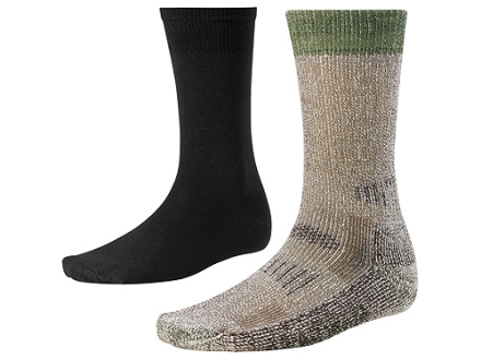 SmartWool Men's Ultimate Heavyweight Hunting Socks System Wool Blend Black and Brown Medium 6-8-1/2