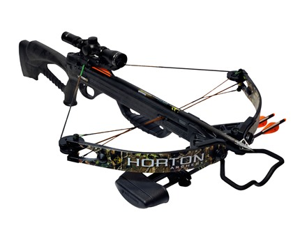 Horton Bone Crusher 160 Crossbow Package with 4x 32mm Mult-A-Range Crossbow Scope Realtree APG Camo