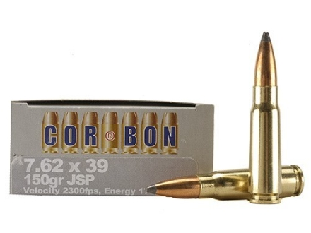 Cor-Bon Hunter Ammunition 7.62x39mm 150 Grain Jacketed Soft Point Box of 20