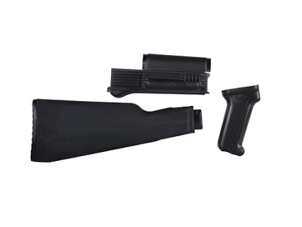 Arsenal, Inc. Complete Buttstock and Handguard Set Intermediate Length AK-47 Milled Receivers Polymer Black