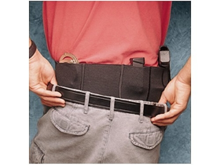 "DeSantis Belly Band Holster Small, Medium Frame Semi Automatic, Revolver 30"" to 34"" Waist Elastic Black"