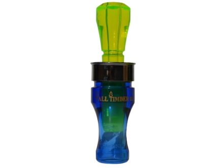 Buck Gardner Tall Timber II Polycarbonate Duck Call Blue/Flourescent Green