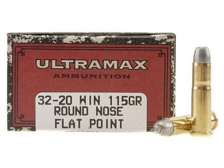Ultramax Cowboy Action Ammunition 32-20 WCF 115 Grain Lead Flat Nose Box of 50