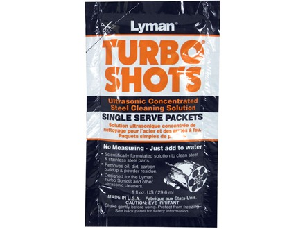 Lyman Turbo Shots Single Serve Ultrasonic Steel Cleaning Solution 10 Pack