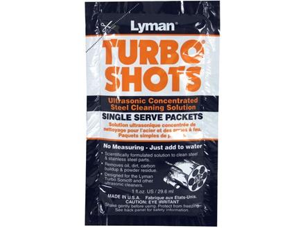 Lyman Turbo Shots Single Serve Ultrasonic Steel Cleaning Solution 10 Pack