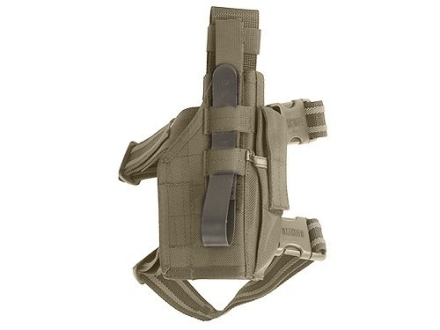 BlackHawk Omega 6 Elite Drop Leg Holster Right Hand Glock 17, 19, 22, 23, 27, Sig P226, P228, S&W Sigma Nylon Olive Drab