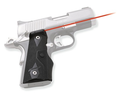 Crimson Trace Lasergrips 1911 Officer Side Activation Polymer Black