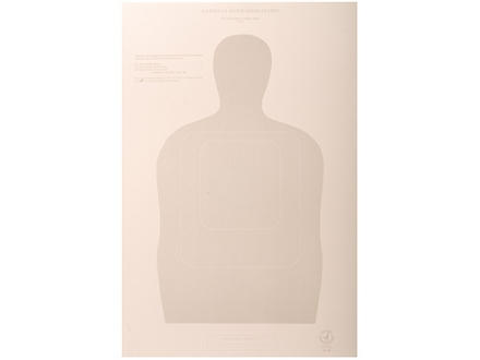 NRA Official Training and Qualification Targets Law Enforcement TQ-16 50-Foot Paper Package of 100