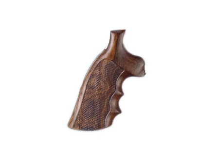 Hogue Fancy Hardwood Grips with Finger Grooves Ruger GP100, Super Redhawk Checkered Cocobolo