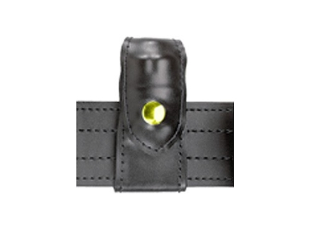Safariland 371 Split-Six Leather Speedloader Pouch Comp I J Frame 5-Shot Brass Snap Black