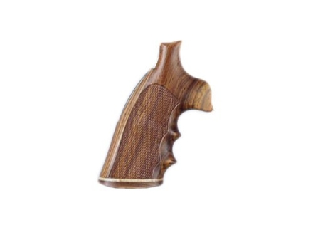 Hogue Fancy Hardwood Grips with Accent Stripe, Finger Grooves and Contrasting Butt Cap Ruger GP100, Super Redhawk Checkered Cocobolo