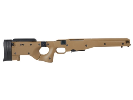 Accuracy International Chassis System (AICS) M24 2.0 Folding Adjustable Stock Remington 700 Long Action 308 Winchester Dark Earth