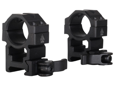 "Leapers UTG 1"" Max Strength Tactical 4-Hole Quick Detachable Picatinny-Style Rings Matte High"