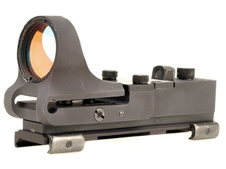 C-More Tactical Railway Reflex Sight 8 MOA Red Dot with Click Switch and Integral Picatinny Mount Aluminum Matte
