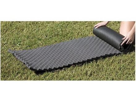 """Texsport Dual Foam Sleeping Pad 72"""" x 20"""" x 1-1/4"""""""" Foam Black"""