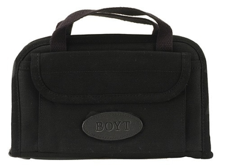 "Boyt Pistol Gun Case 11"" x 7"" Canvas Black"