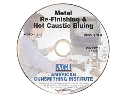 "American Gunsmithing Institute (AGI) Video ""Professional Metal Re-Finishing and Hot Caustic Bluing"" DVD"