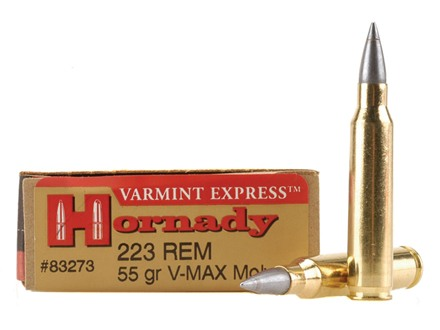 Hornady Varmint Express Ammunition 223 Remington 55 Grain V-Max Moly Box of 20