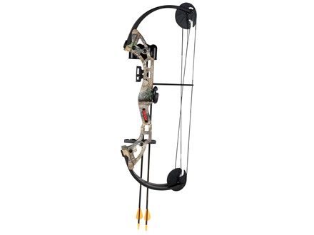 "Bear Archery Warrior Youth Compound Bow Package Right Hand 24-29 lbs 19-25"" Draw Length Reatlree APG Camo"