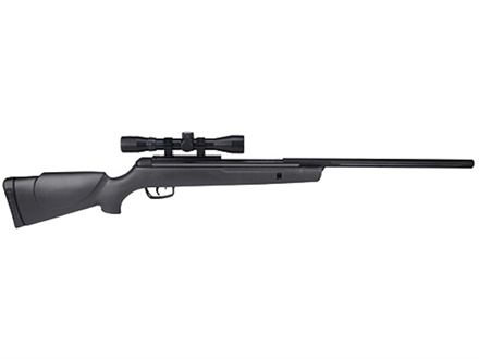 Gamo Silent Stalker Inert Gas Technology (IGT) Air Rifle 177 Caliber Pellet Black Synthetic Stock Blue Barrel with Gamo Airgun Scope 4x 32mm Matte