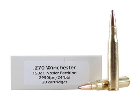 Doubletap Ammunition 270 Winchester 150 Grain Nosler Partition Box of 20