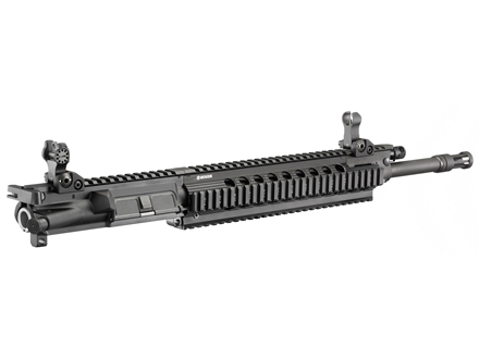 "Ruger SR-556U AR-15 Flat-Top Gas Piston Upper Assembly 6.8mm Remington SPC 1 in 10"" Twist 16"" Barrel with Free Float Handguard, Flip-Up Sights, Flash Hider, 25-Round Magazine"