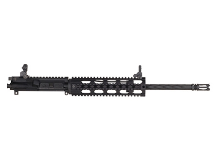 "Yankee Hill AR-15 Lightweight Specter Upper Assembly 6.8mm Remington SPC 1 in 10"" Twist 16"" Fluted Barrel Chrome Lined with Quad Rail Free Float Handguard, Flip-Up Sights, Flash Hider"