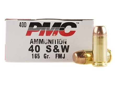 PMC Bronze Ammunition 40 S&W 165 Grain Full Metal Jacket