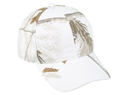 Outdoor Cap Mid-Profile Camo Cap Cotton Realtree AP Snow Camo