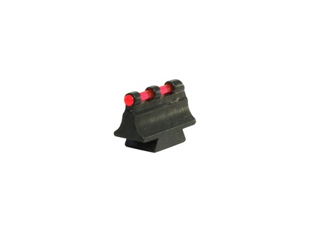 "Williams Fire Sight Rifle Bead .406"" Height, .250"" Width Steel Blue 3/32"" Fiber Optic Red"