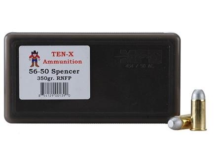 Ten-X Cowboy Ammunition 56-50 Spencer 350 Grain Round Nose Flat Point Box of 50