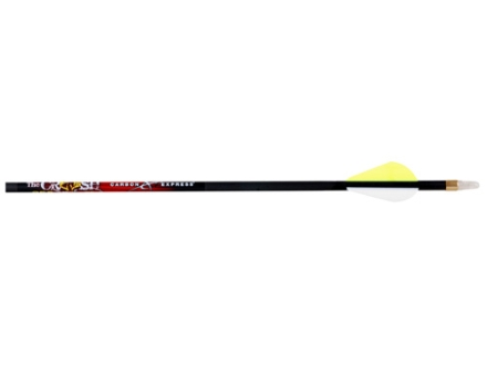 "Carbon Express Crush 250 Carbon Arrow 2"" Raptor Vanes Black Pack of 6"
