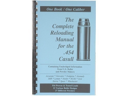 "Loadbooks USA ""454 Casull"" Reloading Manual"