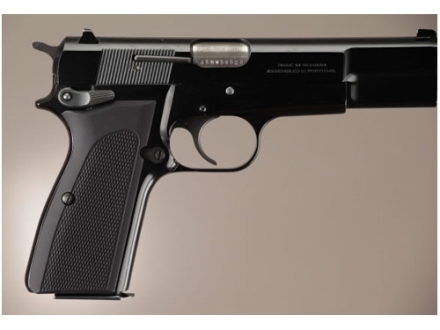Hogue Extreme Series Grip Browning Hi-Power Checkered Aluminum Matte Black