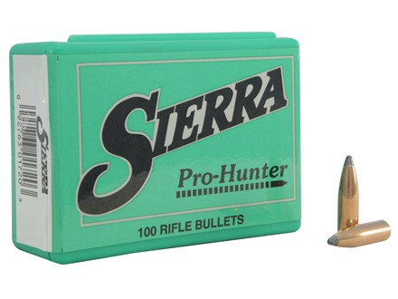 Sierra Pro-Hunter Bullets 264 Caliber, 6.5mm (264 Diameter) 120 Grain Spitzer Box of 100