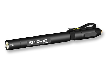 Browning Hi Power Pen Light Flashlight XP-C LED Bulb with Hi/Low Aluminum Black