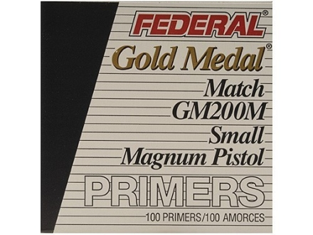 Federal Premium Gold Medal Small Pistol Magnum Match Primers #200M